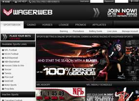 Bet online with WagerWeb Sportsbook